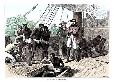 Dibujo de negros esclavos